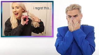 Hairdresser Reacts To At Home Haircuts Gone Wrong