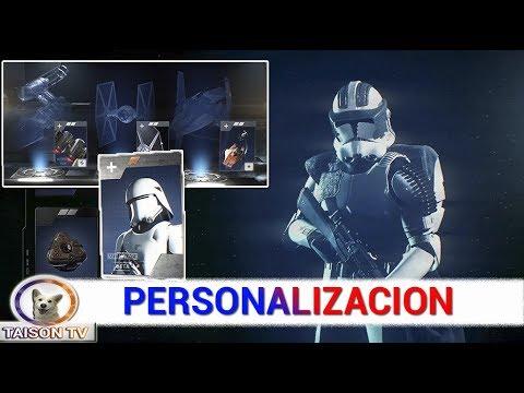 Tutorial -  Personalización, Habilidades, Créditos, Craftear, Misiones , y Crates de Battlefront II