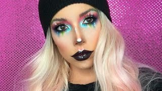 COLORFUL FACE CHART MAKEUP | LUSTRELUX