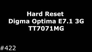 Hard reset Digma Optima E7.1 3G TT7071MG