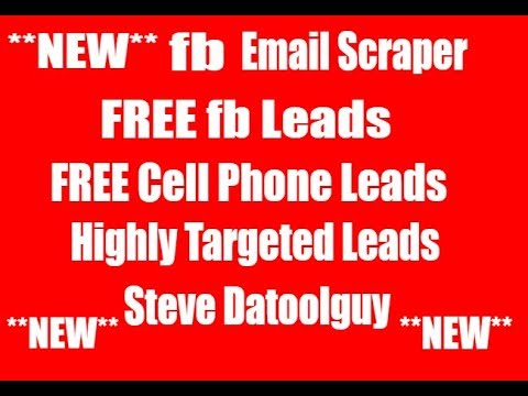 Email extractor free|extract real email form facebook youtube.