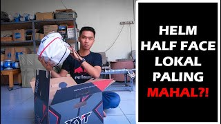 Unboxing KYT NFJ, Review Half Face Lokal Paling Mahal?!   VLOG #4