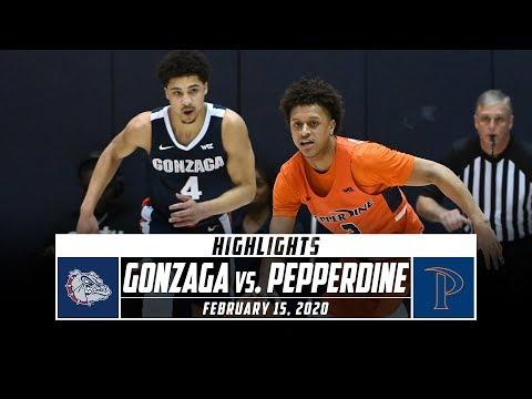 No. 2 Gonzaga vs. Pepperdine Basketball Highlights (2019-20) | Stadium