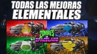 GUIA de Todas las Mejoras Elementales | Zombies in Spaceland