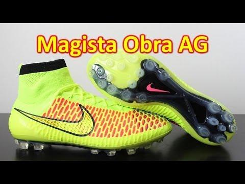 Nike Magista Obra AG (Artificial Grass) Volt/Hyper Punch - Unboxing + On Feet