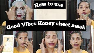 Good Vibes Honey sheet mask review
