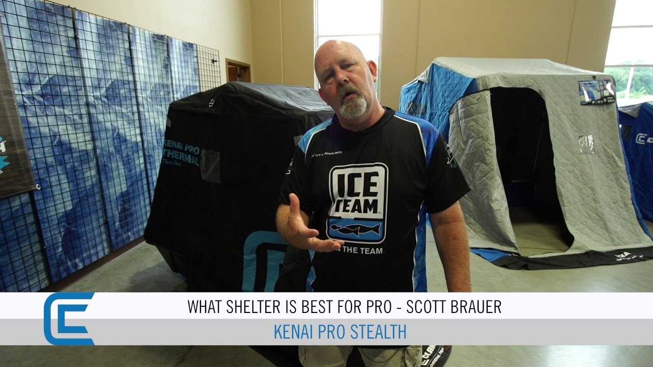 Kenai Pro Stealth by Clam Best One Person Flip Over Ice Shelter