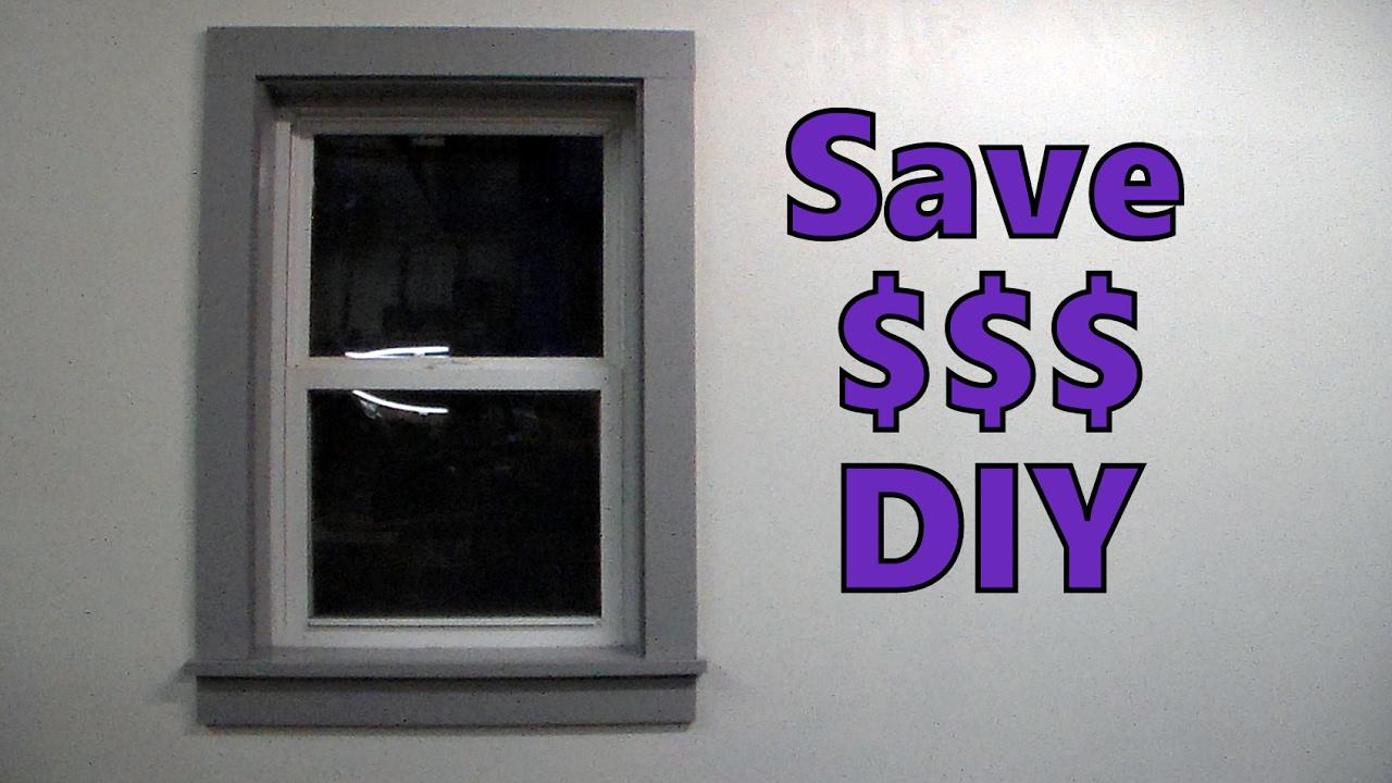Cheap Easy Diy Window Door Trim Youtube