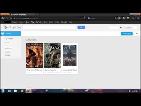 How to upload epub books and pdf on Google play Books app