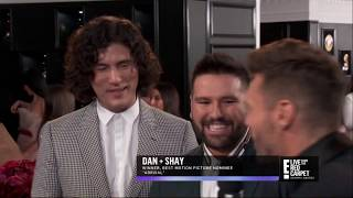 Ryan Seacrest on the Grammy's red carpet with Dan + Shay and Casa Dragones Joven