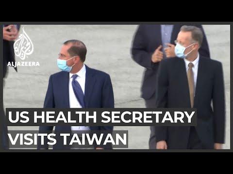 US health secretary's Taiwan visit angers China