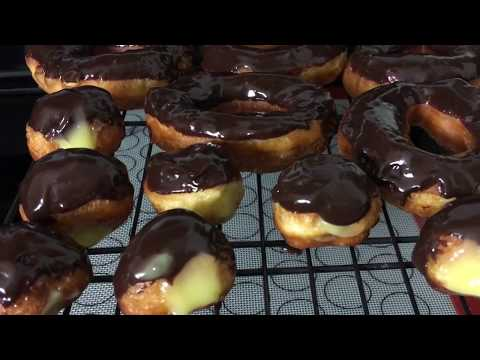 Pillsbury Biscuit Frosted Chocolate Donuts and Mini Boston Cream Donuts