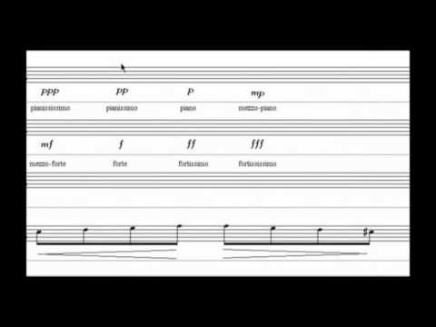 Free online music theory courses about the dynamics in music