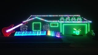 Carol of the Bells - Best Christmas Light Show! WATCH END! Sarajevo - Trans-Siberian Orchestra)