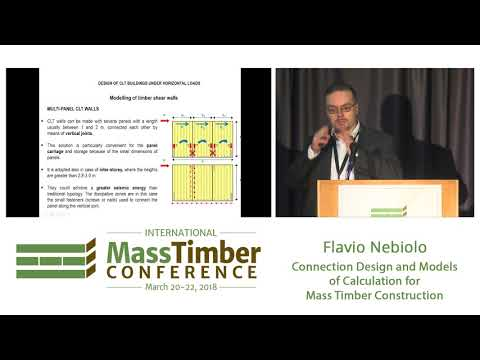 Connection Design and Models of Calculation for Mass Timber Construction