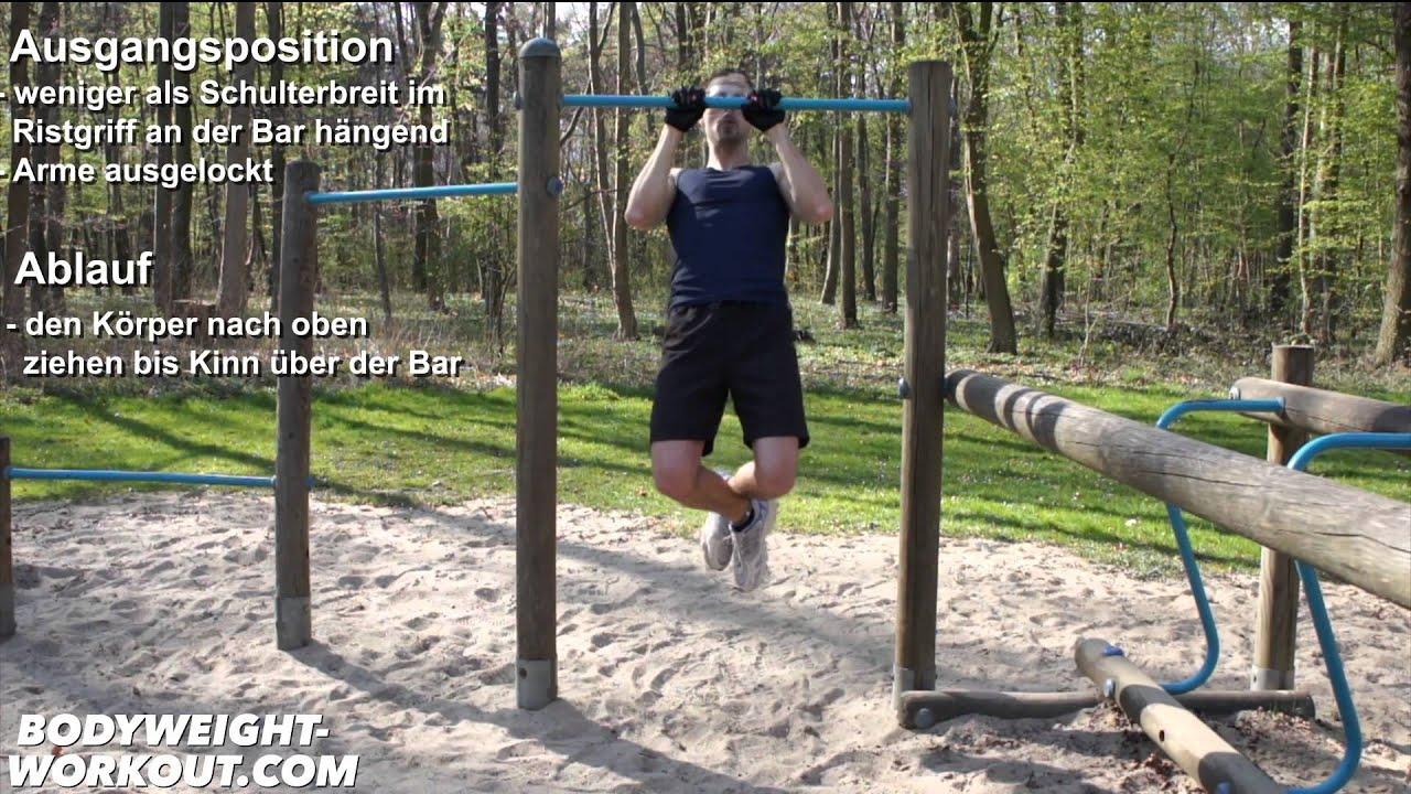 pull ups deutsch