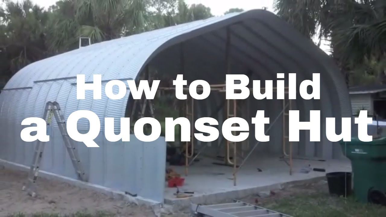How to erect a steel quonset hut building youtube for How to build a house online