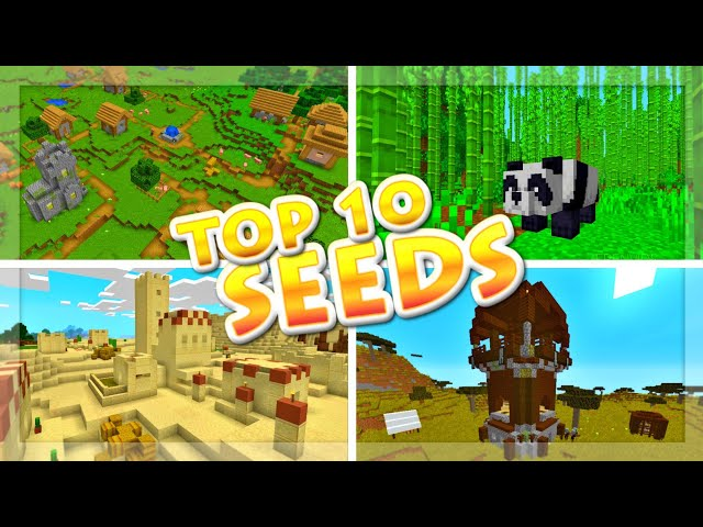 Top 10 BEST Seeds for MCPE 1.10 - EPIC Minecraft PE 1.10 Seeds (Bedrock Edition Beta 1.10.0.3)