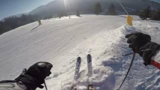 Буковель. Спуск с горы по трассе 15. 01 января 2017.