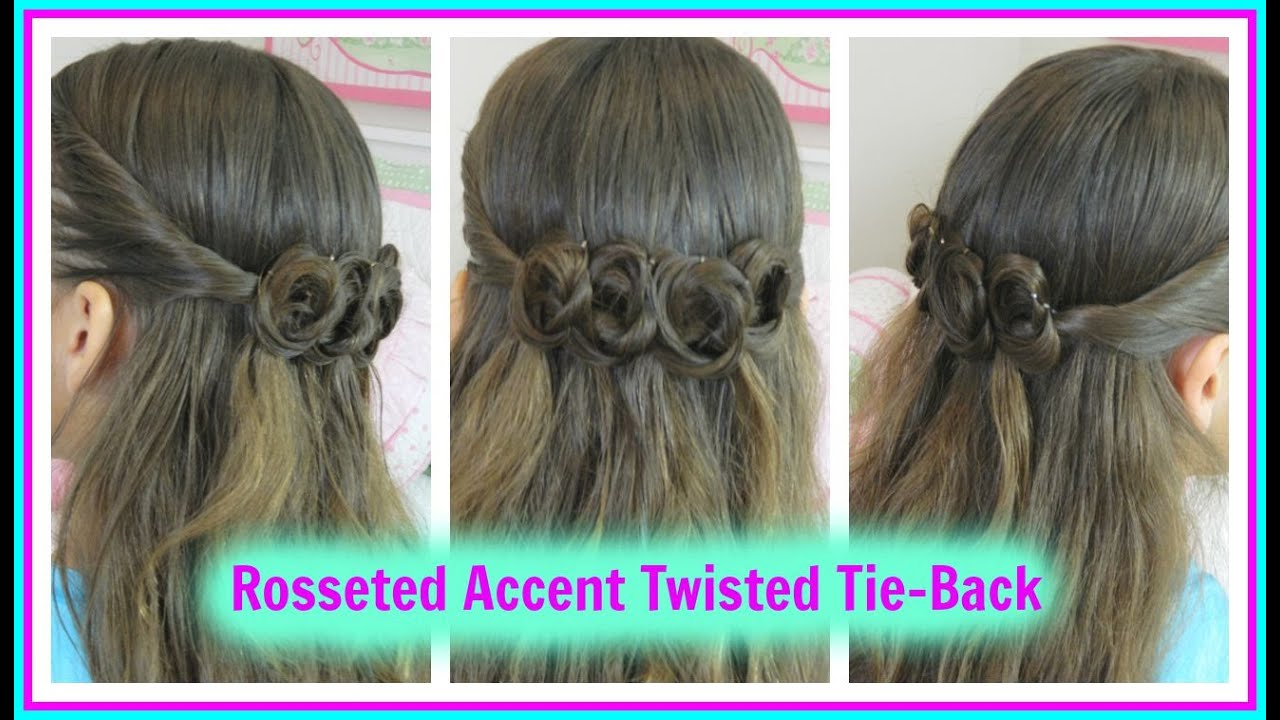 hair styles for back to school rosseted accent twisted tie back back to school 3063