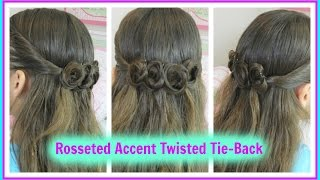 Rosseted Accent Twisted Tie Back / Back to School Hairstyles / Bonita Hair Do