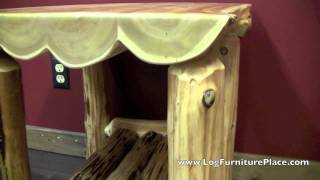 Cedar Lake Half Log End Table from LogFurniturePlace.com