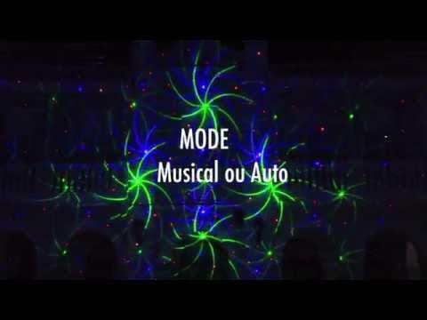 Laser CANDY FIRE GHOST Rouge Bleu 400mw 12 Effets vidéo