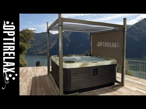 outdoor garten whirlpool berdachung automatische. Black Bedroom Furniture Sets. Home Design Ideas