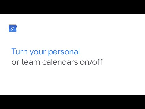 Separate personal Google Calendar from your work or team calendar