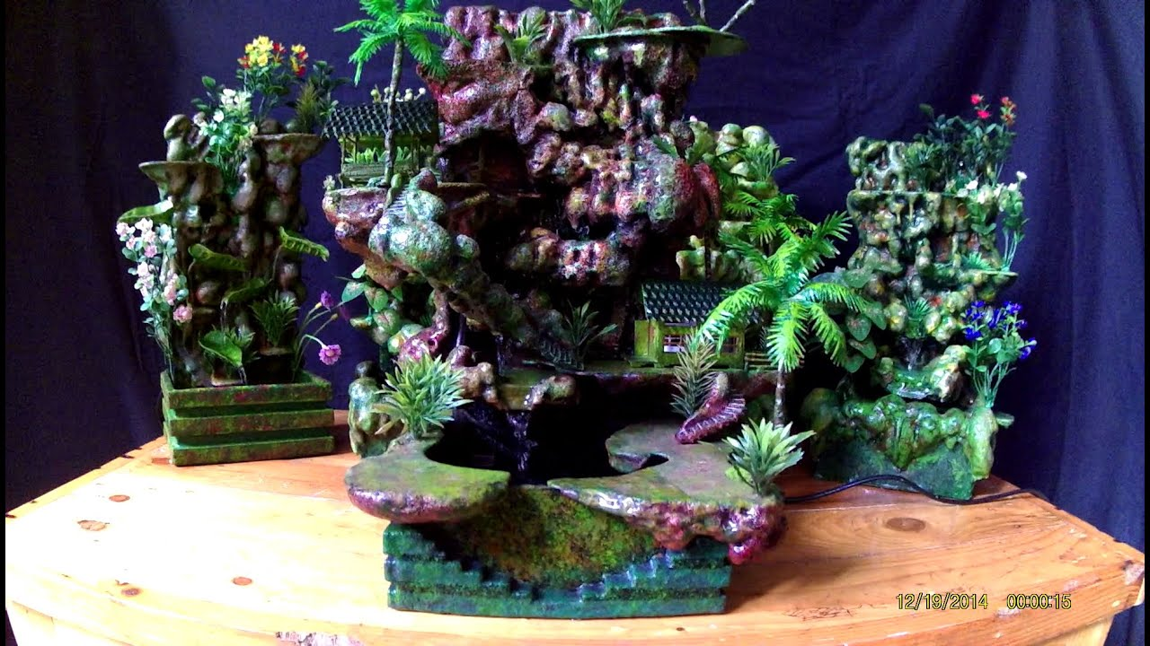 Rock Waterfall Miniature / Air Terjun Miniatur - YouTube