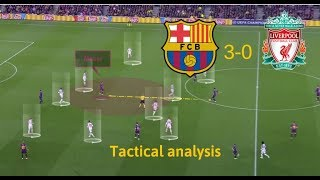 In first match semi-finals, barcelona won 3-0 against liverpool. messi has been inspired, but there some interesting tactical details how probab...