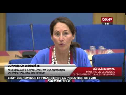 Audition - Ségolène Royal - Coût économique et financier de la pollution de l'air