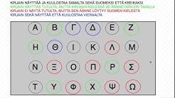 Yhteenveto suurista kirjaimista ja ääntämisestä (kreikkalaiset aakkoset)