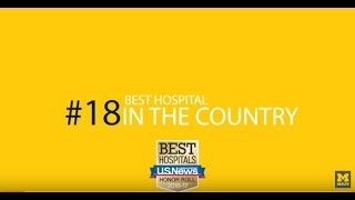 Michigan is #18 on U.S. News & World Report Best Hospitals List for 2016-17