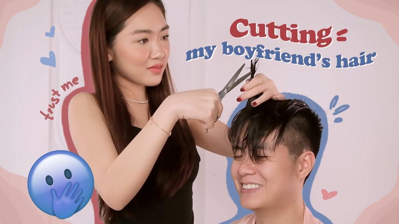 Lần đầu tự cắt tóc cho bạn trai và kết quả không ngờ 💇🏻♂️ | Chloe Nguyen & Zim Pham