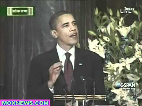 President Obama Address To The Indian Parliament In New Delhi pt.1