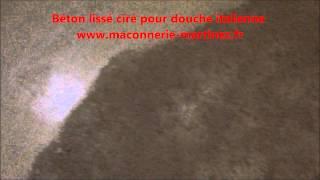 Comment faire un Béton lissé ciré pour douche italienne www maconnerie martinez fr