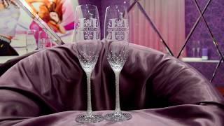 Свадебные бокалы в стразах с гравировкой https://vk.com/club53829666