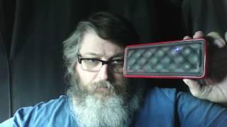 AmazonBasics Portable Bluetooth Speaker - Red $19.99