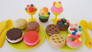 Play Dough Dessert Factory Cookies, Donuts & Ice Cream