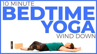 Bedtime Yoga Stretch (10 minute Yoga) Relaxing Yoga for Bedtime Routine | Sarah Beth Yoga