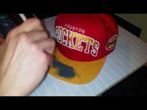 Custom mitchell & ness snapback / cap | how to dye mesh / material