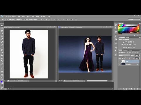 How to merge two photos in adobe photoshop cs3