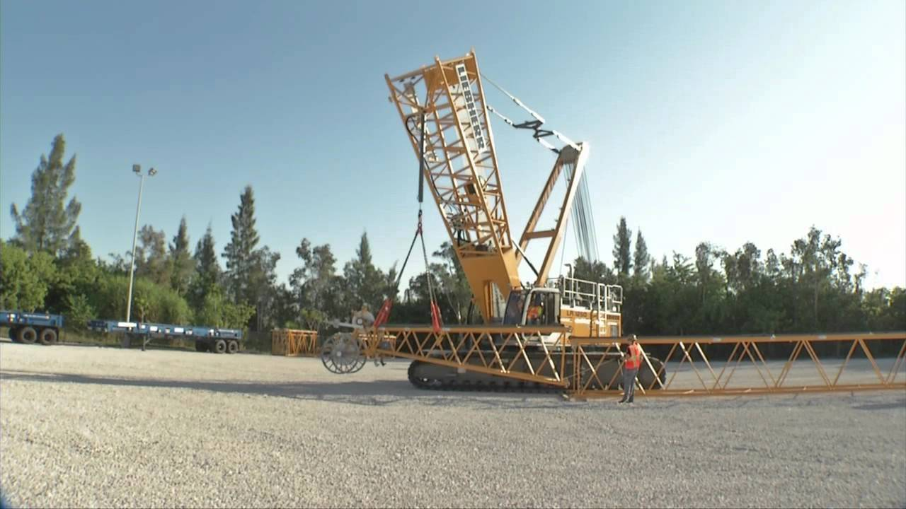 Liebherr - LR 1250 lattice boom crawler crane self disassembly system