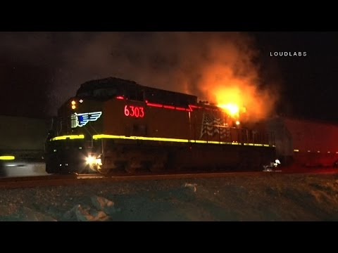 Union Pacific Train Fire / Victorville  RAW FOOTAGE