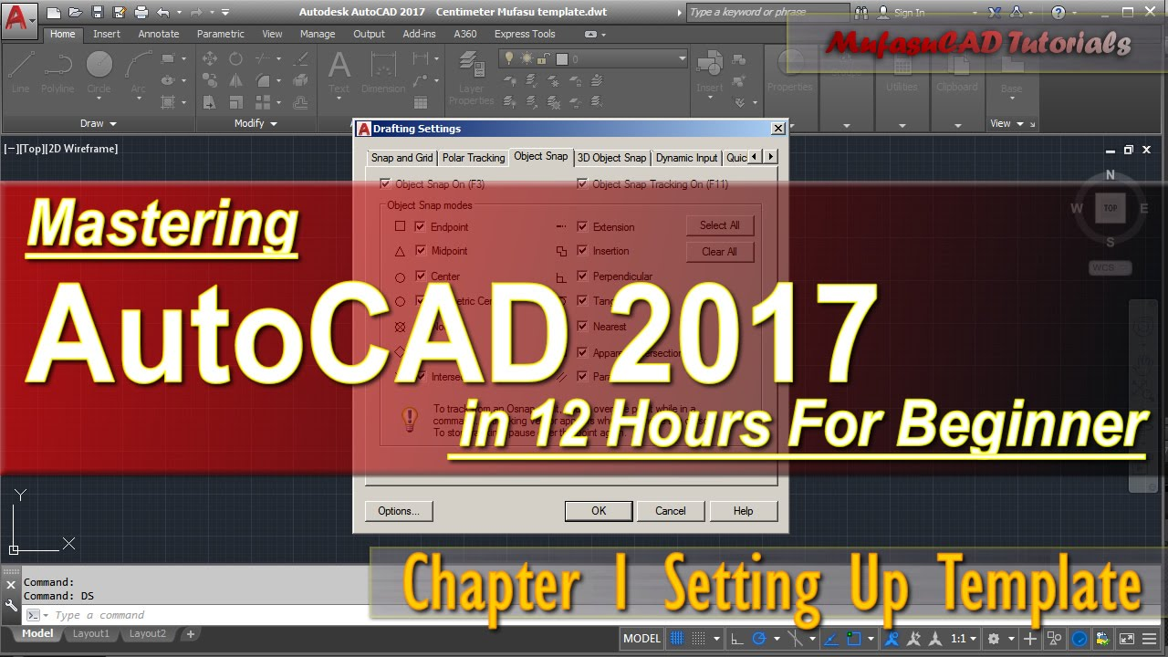autocad 2017 setting up template for beginner course chapter 1
