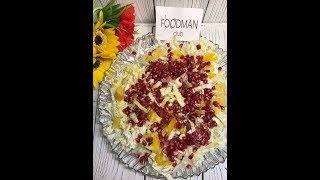 Салат с пекинской капустой, яйцами и гранатом со сметано-горчичным соусом: рецепт от Foodman.club