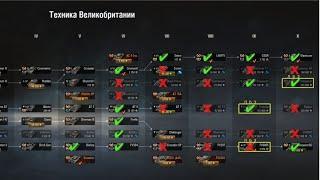 какие танки АНГЛИИ качать в WoT | #Танкосмотр2020 Итог по всем веткам World of Tanks
