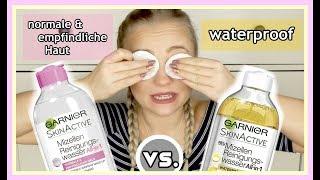GARNIER MIZELLEN REINIGUNGSWASSER - waterproof vs. normale & empfindliche Haut   Blond_Beautyy