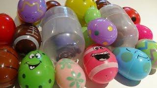 21 surprise eggs!!! with fun toys inside, minions, trolls, paws patrol, emogi, candy